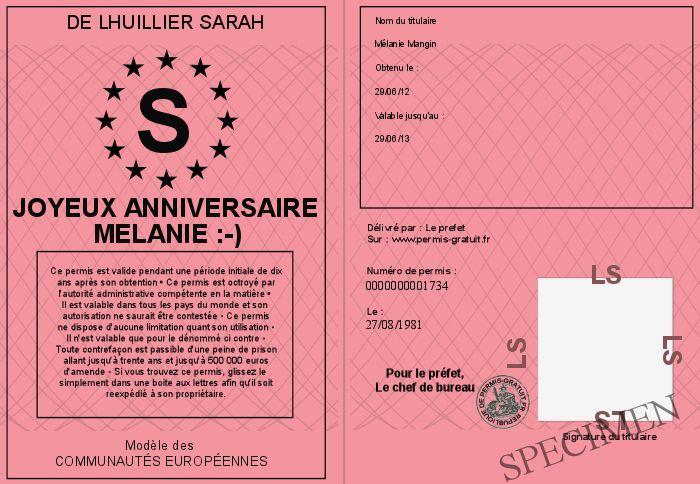 Joyeux anniversaire melanie - Reussir le permis de conduire du premier coup ...